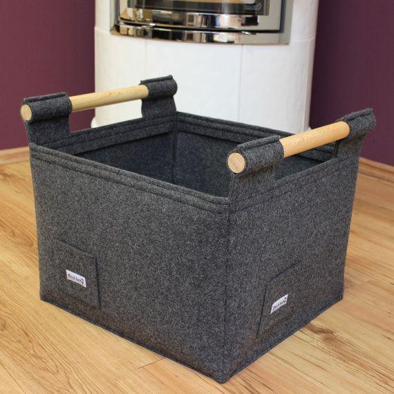 super stabiler filzkorb modell gr nberg l farbe. Black Bedroom Furniture Sets. Home Design Ideas