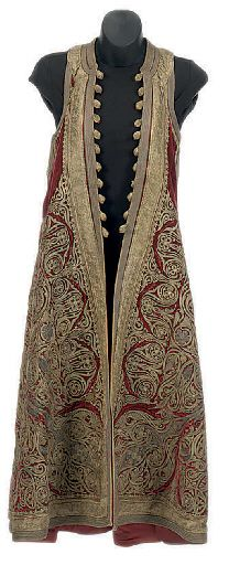 'Pirpiri'-coat.  Late-Ottoman clothing from the Balkans.  19th century.  Adorned with 'goldwork' embroidery.