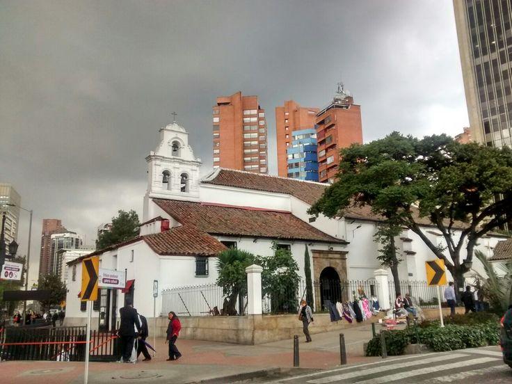 Templo de San Diego, en el centro Internacional de Bogotá.