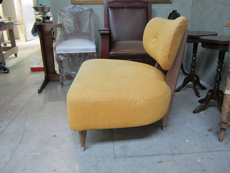 #contemporary #chair before #refinishing & #reupholstering by AM Furniture Finishing.