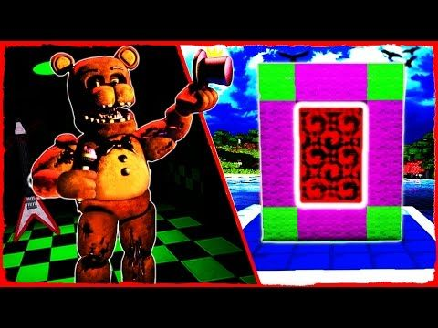 Minecraft FNAF - How to Make a Portal to FIVE NIGHTS AT