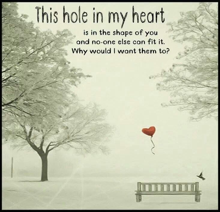 Hole in my heart.....