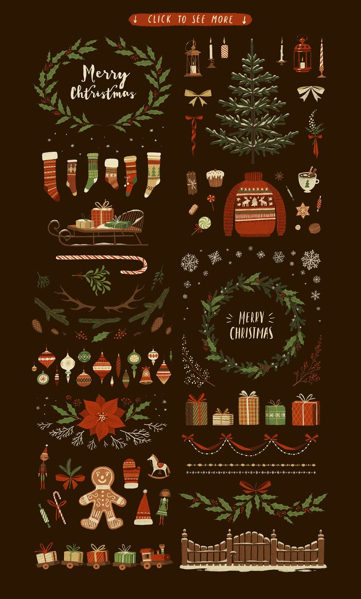 Christmas BIG PACK by Darumo Shop on @creativemarket
