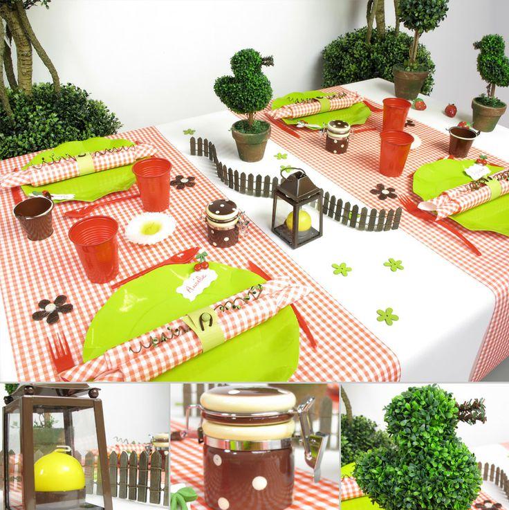 Ambiance de table Pique Nique - decofete-servimag.com