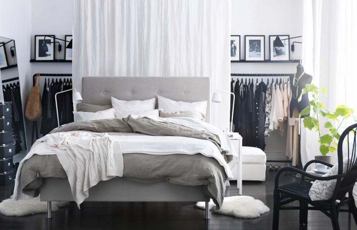 Amazing New IKEA nábytek katalog 2013, Best of Living Room, Zábavné Šedá Bílá IKEA ložnice s přitažlivými Ramínka