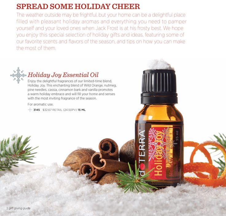 Holiday Joy Doterra Essential Oil