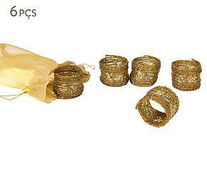 Conjunto de anéis para guardanapos makassar - soleil