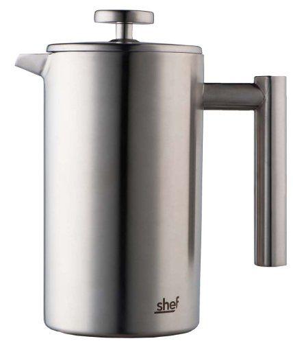 Shef Zweiwandige polierte Edelstahl Kaffeekanne mit Kolben. Erhältlich in 3 Größen für 3, 6 und 8 Tassen (8 Cup) - [ #Germany #Deutschland ] #Haushaltswaren [ more details at ... http://deutschdesign.apparelique.com/shef-zweiwandige-polierte-edelstahl-kaffeekanne-mit-kolben-erhaltlich-in-3-grosen-fur-3-6-und-8-tassen-8-cup/ ]