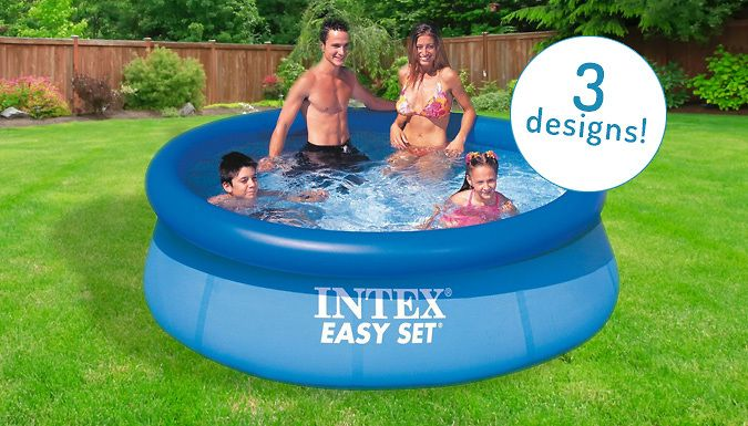 Buy Intex Large Family Swimming Pools - 3 Styles UK deal for just: £19.99 Take a dip in one of these Intex Large Family Swimming Pools      Green Rectangle, Blue Rectangle or Blue Round shaped pools available      Perfect inflatable designs for family gardens       High quality construction inflatable designs are simple to set up      Wide side walls made with durable vinyl      Great for...