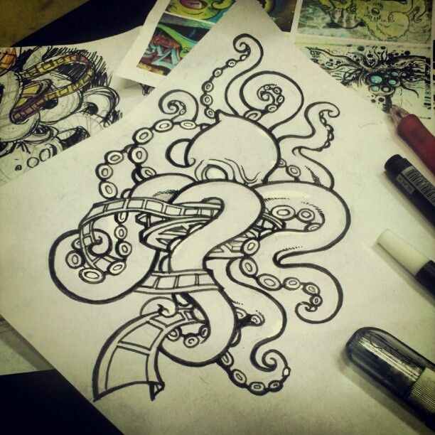 New school octopus design / Amel Santoso