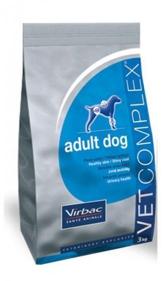 Pienso para perros Virbac Vet complex adult dog. Pienso para perros. Pienso Virbac Vet complex adult dog. Alimento / Comida para perros indicada para perros adultos de todas las razas. Ingrediente principal: Carne de ave. En Petclic ahorras mas de un 35% en todas tus compras de piensos y alimentación para perros Todas las garantías. Toda la seguridad que necesitas y mas de 5.000 productos de alimentación rebajados. www.petclic.es