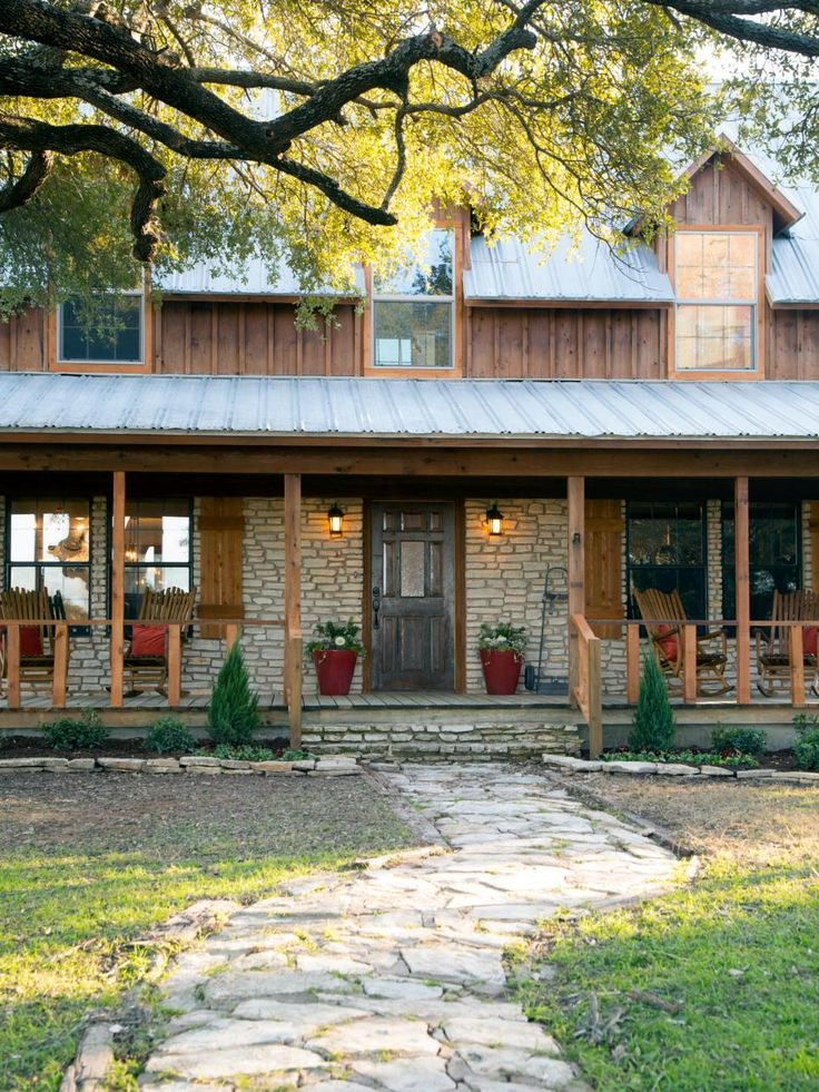 """Chip and Joanna battle bees and some structural surprises as they help a Baylor professor and his wife transform a frighteningly ambitious fixer upper into """"a piece of paradise in the country."""" From the experts at @hgtv."""