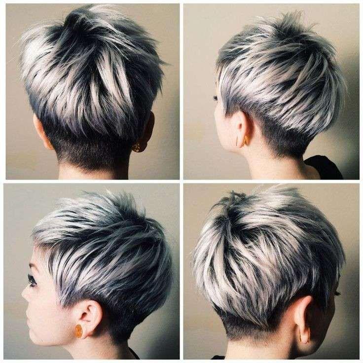 abbastanza Oltre 25 fantastiche idee su Corti capelli grigi su Pinterest  ZM55