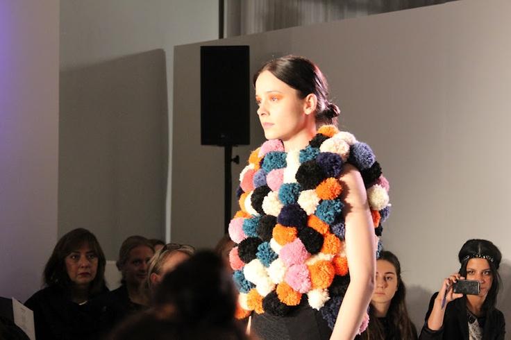 Fuzz ball sweater at Ivana Helsinki A/W 2012  #fashion #runway #avantgarde