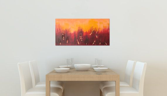 Out of Fire II Landscape Abstract Acrylic Painting by CGCFineArts