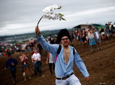 After the rain and traffic jams, the fun begins at Glastonbury
