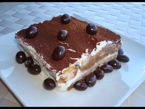 Tiramisu sin huevo, receta - Cocina en video.com