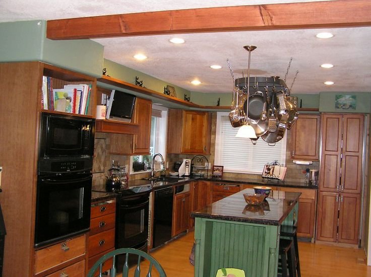 10k Kitchen Remodel Added A Ceiling Beam Making A Home Kitchen Pinterest Ceilings