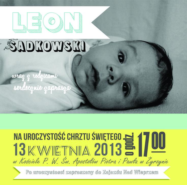zaproszenie na chrzest\ christening invitation
