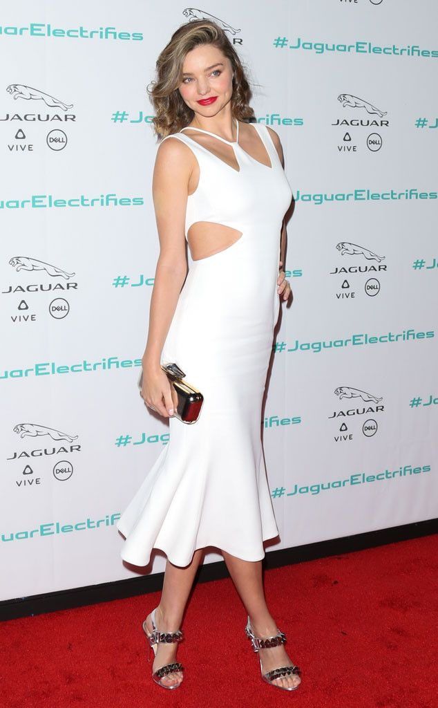 Miranda Kerr from The Big Picture: Today's Hot Pics  Kerr does cutouts! The model looks fab during an event in Los Angeles.