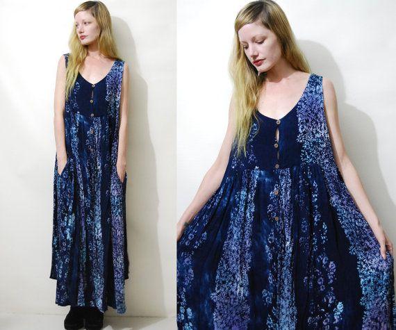 Nuisette robe des années 90 Vintage gitane robe par cruxandcrow