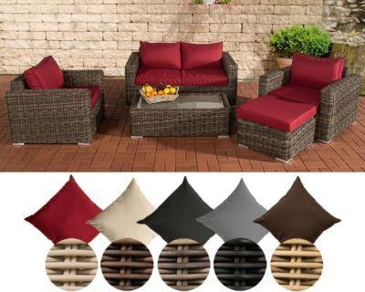 Poly-Rattan Lounge Garten-Garnitur MADEIRA 2-1-1 grau-meliert, 5 Bezugsfarben wählbar, 5 mm RUND Rattan Jetzt bestellen unter: https://moebel.ladendirekt.de/garten/gartenmoebel/loungemoebel-garten/?uid=0143b7fc-e687-592a-8b68-2fd3c05ca475&utm_source=pinterest&utm_medium=pin&utm_campaign=boards #loungemoebelgarten #garten #gartenmoebel