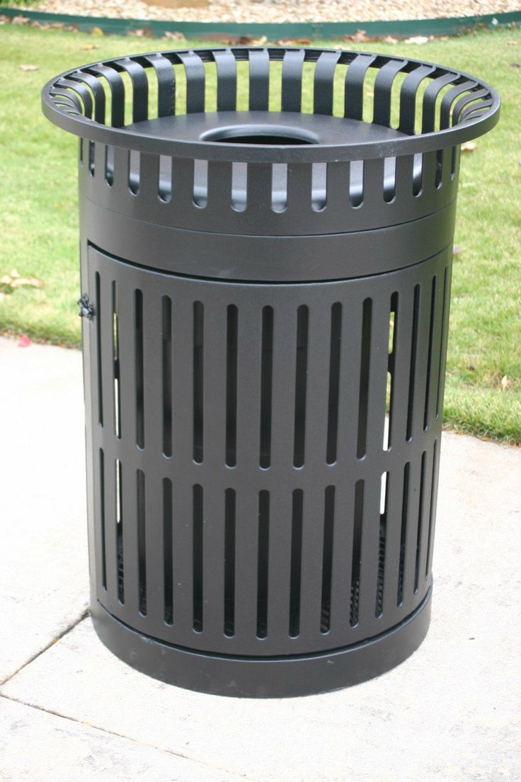 Add a Sleek Look to any outdoor park and playground with the Metro Trash Receptacle! Noah's Park & Playgrounds offers high quality and budget friendly park equipment and amenities!