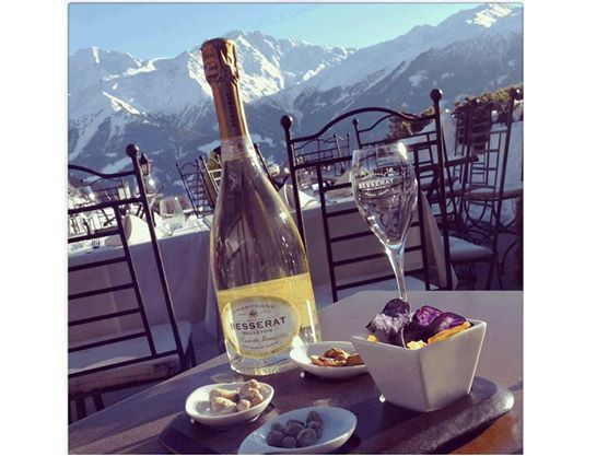 Good food, good views, great Besserat de Bellefon Blanc de Blanc Champagne!