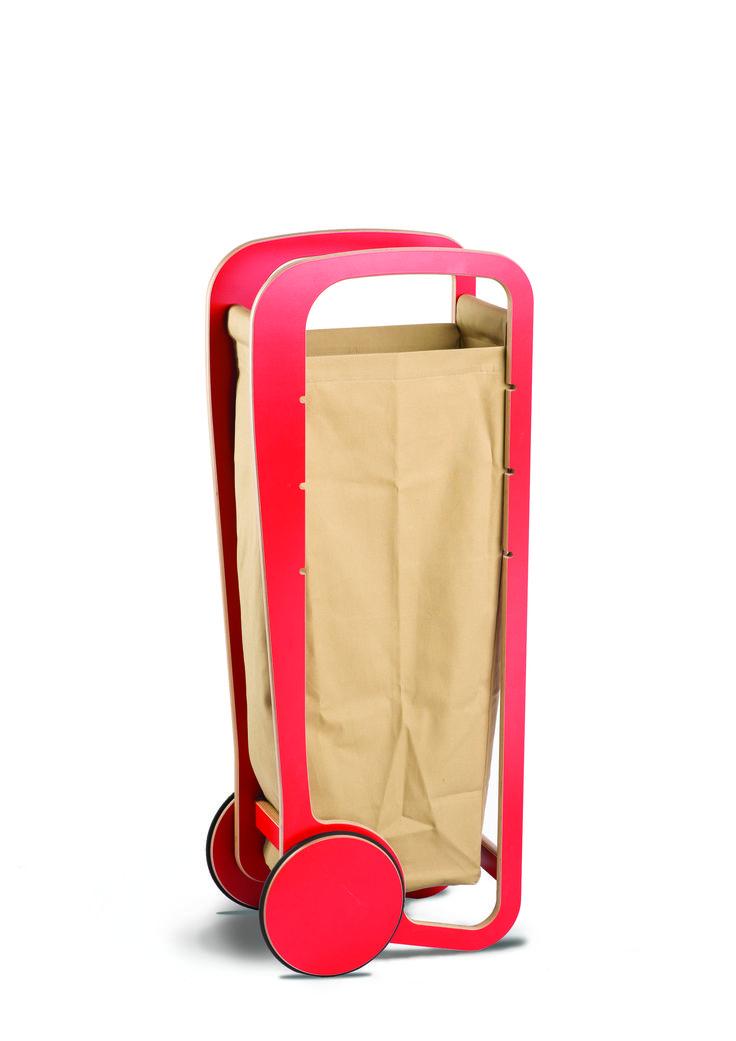 Fleimio Trolley Bag (light brown) in red Fleimio Trolley.