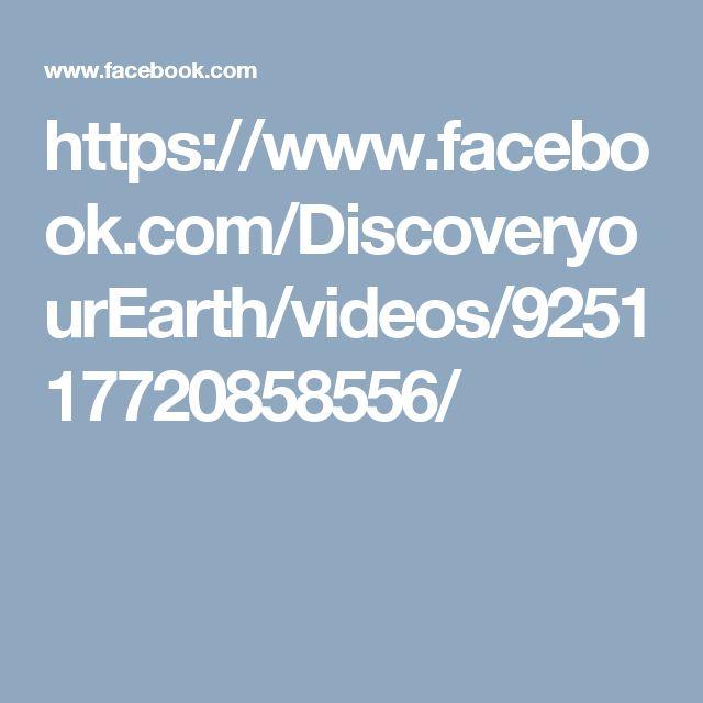 https://www.facebook.com/DiscoveryourEarth/videos/925117720858556/