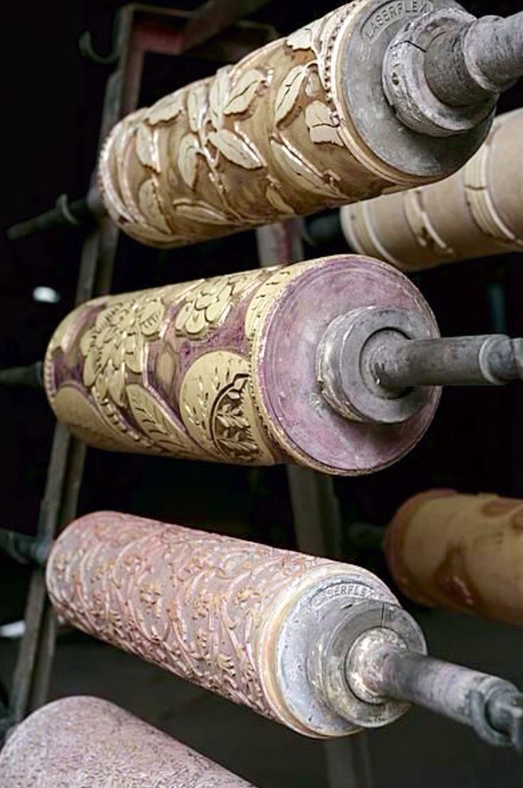Antique wallpaper rollers