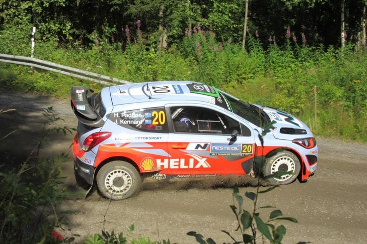 A sunny day at Rally Finland. Hayden Paddon at SS8 Painaa in 1.8.2014. Photo by Coriosi www.coriosi.com