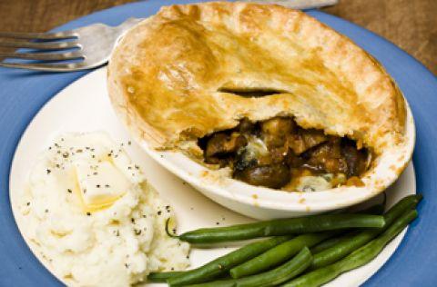 Simon Rimmer's peppered mushroom and Stilton pie recipe - goodtoknow