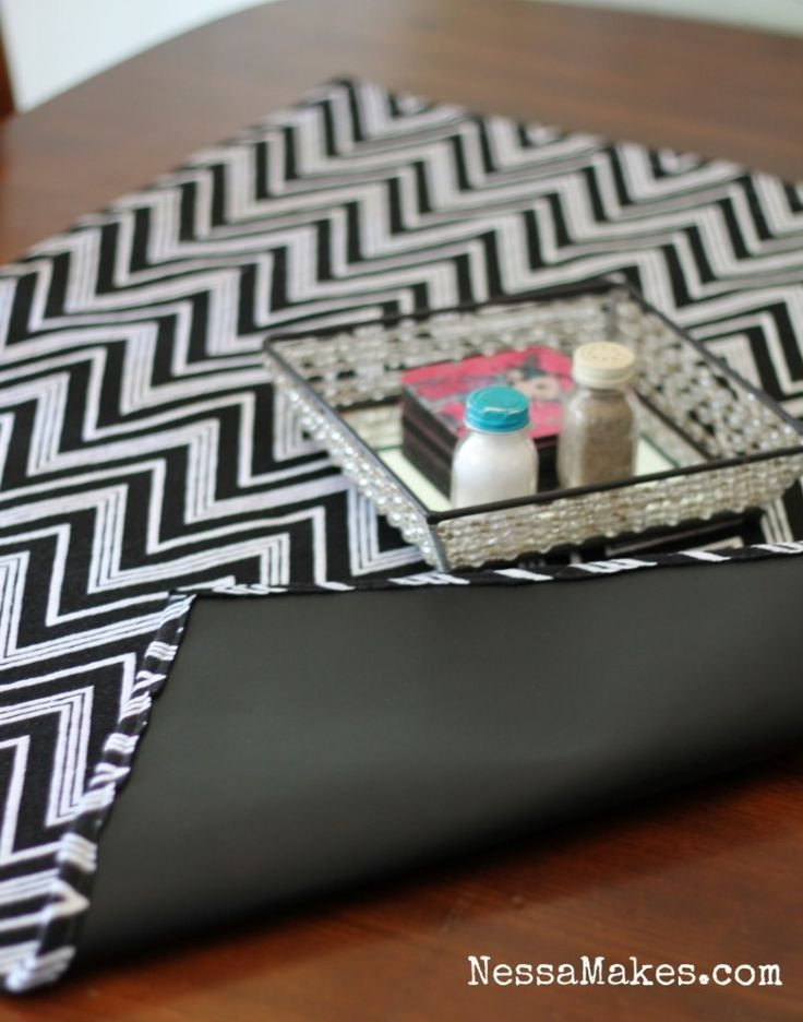 how to make chalkboard fabric