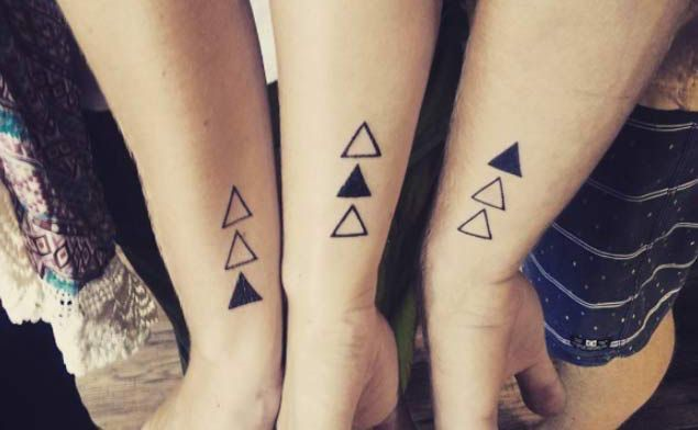 22 awesome sibling tattoos for brothers and sisters gentleman pinterest matching tattoos. Black Bedroom Furniture Sets. Home Design Ideas