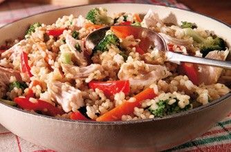 491 cals per portionIf you love risotto you'll love this turkey risotto that is surprisingly low in calories! Using no low-fat ingredients this recipe allows you to enjoy this cheesy dish without any of the guilt.