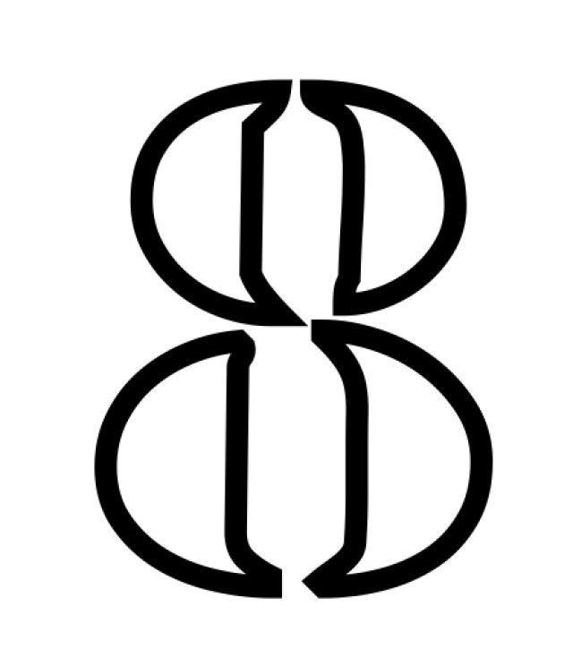 Plantillas de stencil de números y símbolos gratis para imprimir: Plantillas de stencils de números y símbolos gratis para hacer en casa: 8
