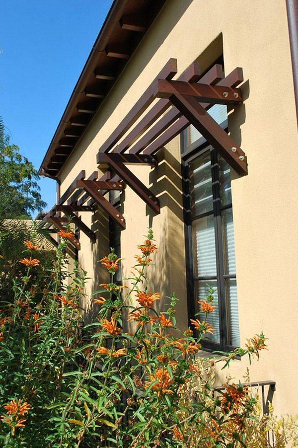 This is a great idea of a window awning, wood awning gives a rustic look to the garden. Description from homedesignlover.com. I searched for this on bing.com/images