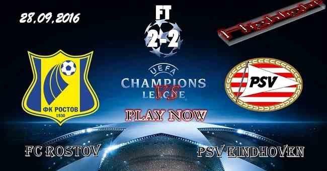 FC Rostov vs 2-2 PSV Eindhoven 28.09.2016 HIGHLIGHTS - PPsoccer