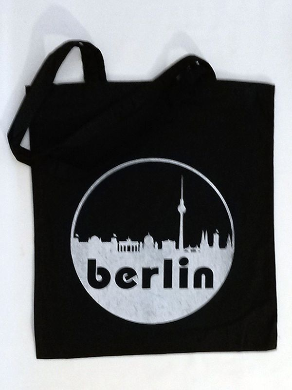 Berlin Skyline Cotton Tote via Tribe of E. Click on the image to see more!