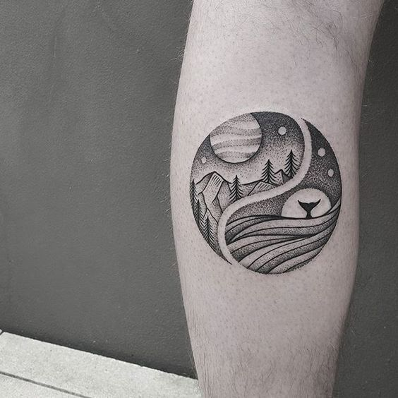 1000 ideas about yin yang tattoos on pinterest praying for Track and field tattoos