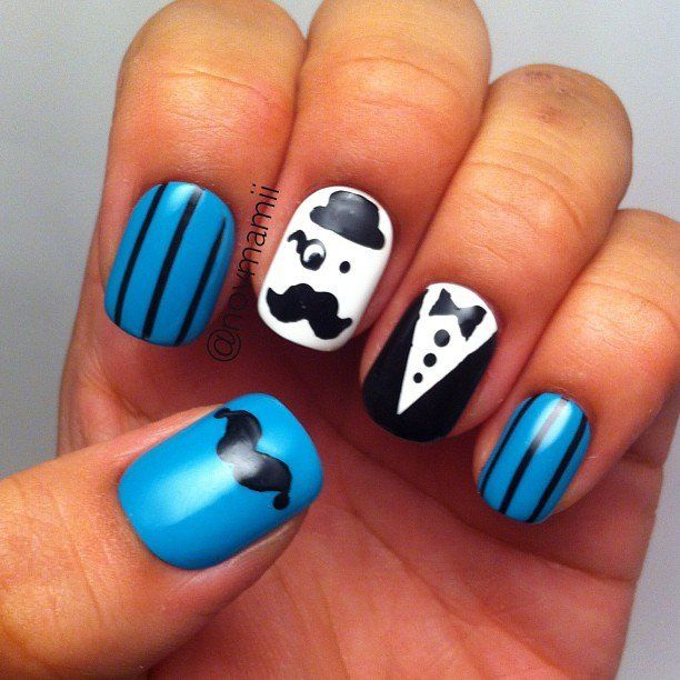 Best 25 mustache nail art ideas on pinterest mustache nails mustache nail art designs you must try this movember prinsesfo Image collections