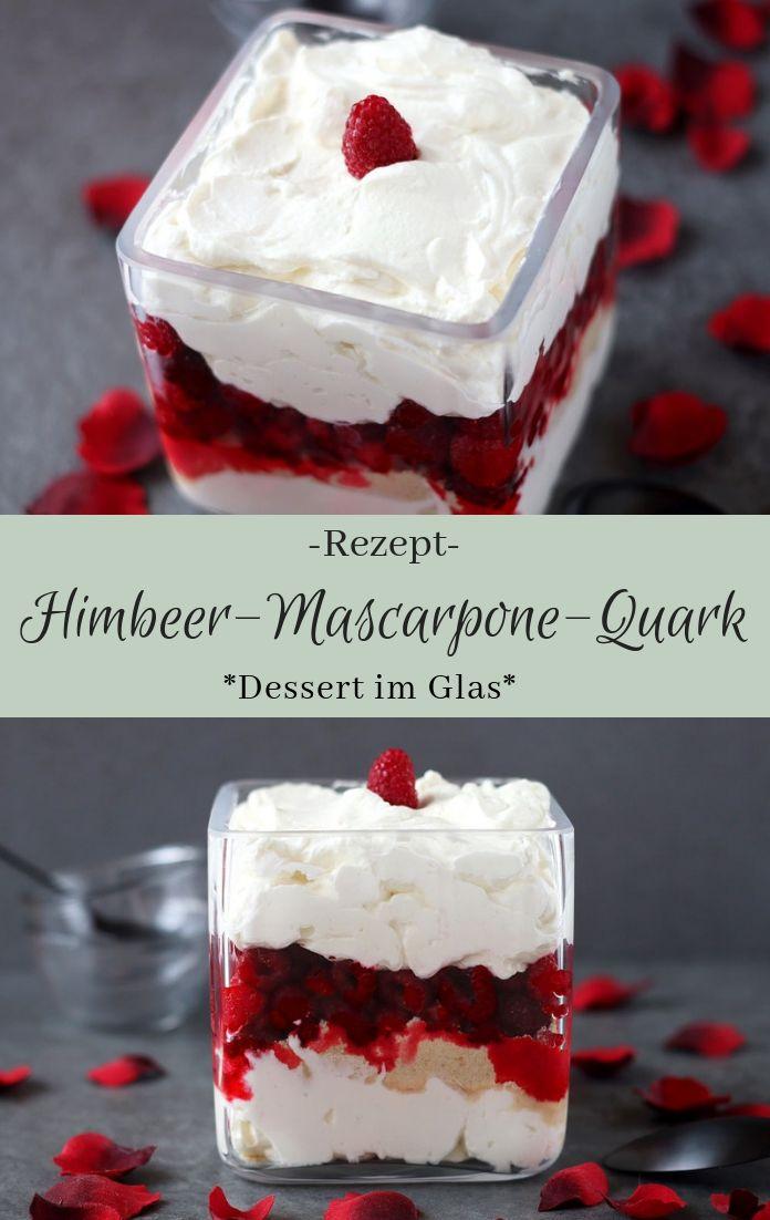 Dessert im Glas: Leckeres Rezept für eine Himbeer-Quark-Mascarpone mit Butterke...