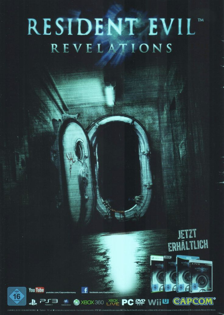 Resident Evil: Revelations(2012) • Scan from: GamePro_07_2013 • Platform: Xbox 360, PlayStation 3, Xbox 360 Games Store, PlayStation Network (PS3), PC, Nintendo 3DS, Nintendo 3DS eShop, Wii U • Genre: Shooter, Action-Adventure • Developer: Capcom •...
