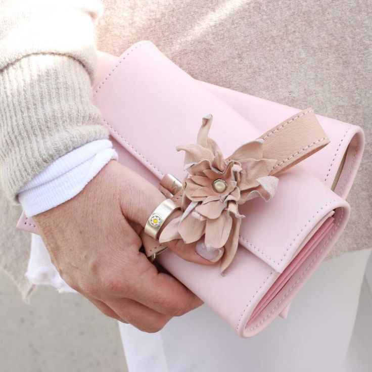 hochwertige damen geldbörsen leder rosa