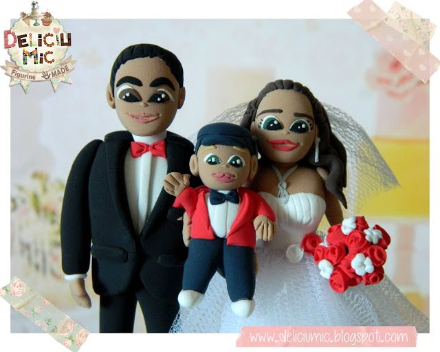 Deliciu Mic - Figurine de tort nunta mire si mireasa Bijuterii Handmade si Accesorii Handmade: CUTE - Figurine de tort pentru nunta - Mire s...