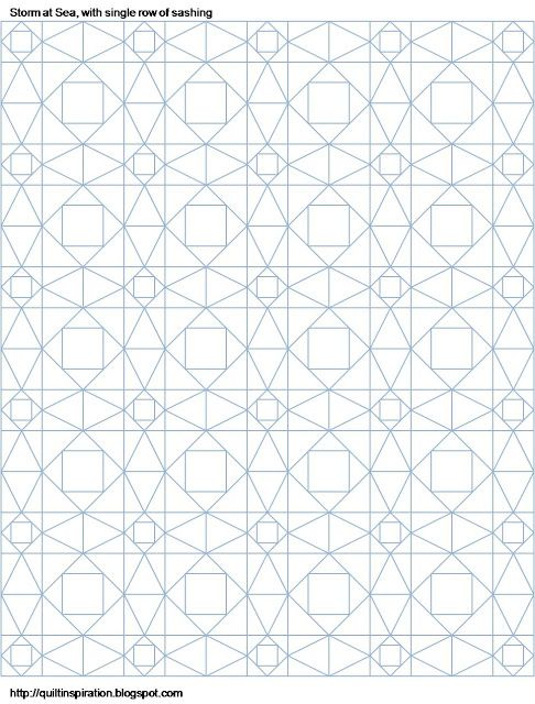 Quilting Grid Patterns : Quilt Inspiration: Storm-at-Sea Quilts, free block diagrams and patterns storm at sea or ...