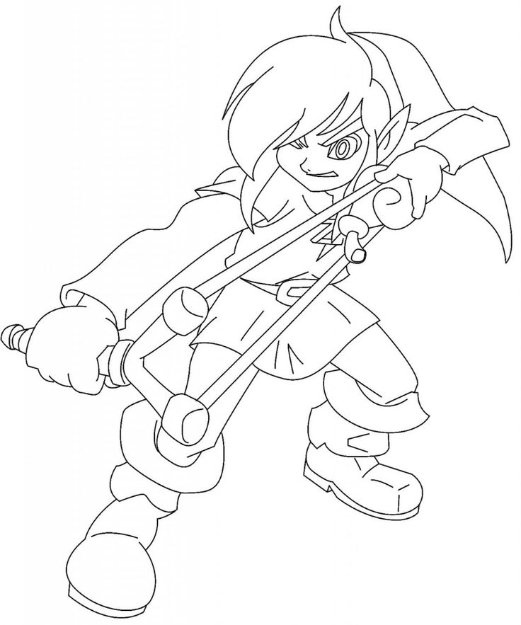 legend of zelda coloring pages - Zelda Coloring Pages