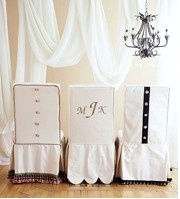 Dreamy Monogrammed Chair Covers
