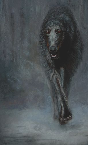 Noble Dogs: (Scottish Deerhound)  Original Pastel  I know Rolo is part wolf, but I like this picture
